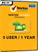Norton Security (5 postes / 1 an)
