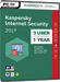 Kaspersky Internet Security 2017 (3 postes / 1 an)